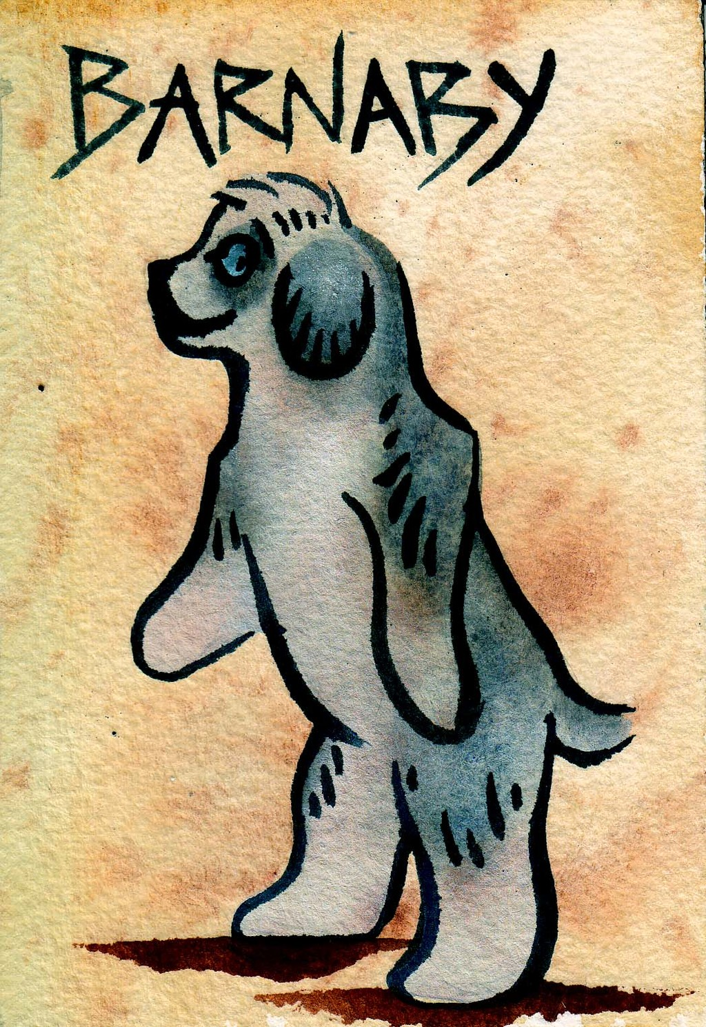 Cave Painting Badge by Laura Garabedian