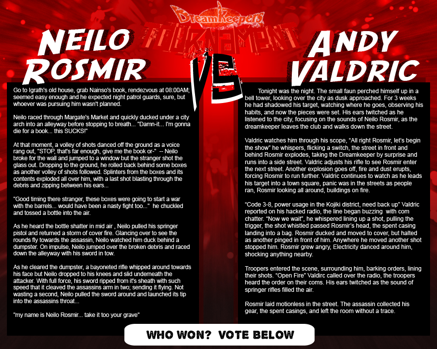 Tournament Match 25- Neilo vs Andy