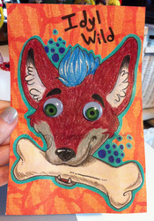 Commission: Experimental Badge for Idyl Wild