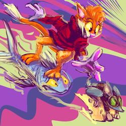 tkitter skiwtch 73: D Clawy Cat