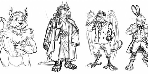 PoL Patreon event sketches (WIP)