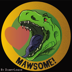 [Merch Design] Mawsome - TRex
