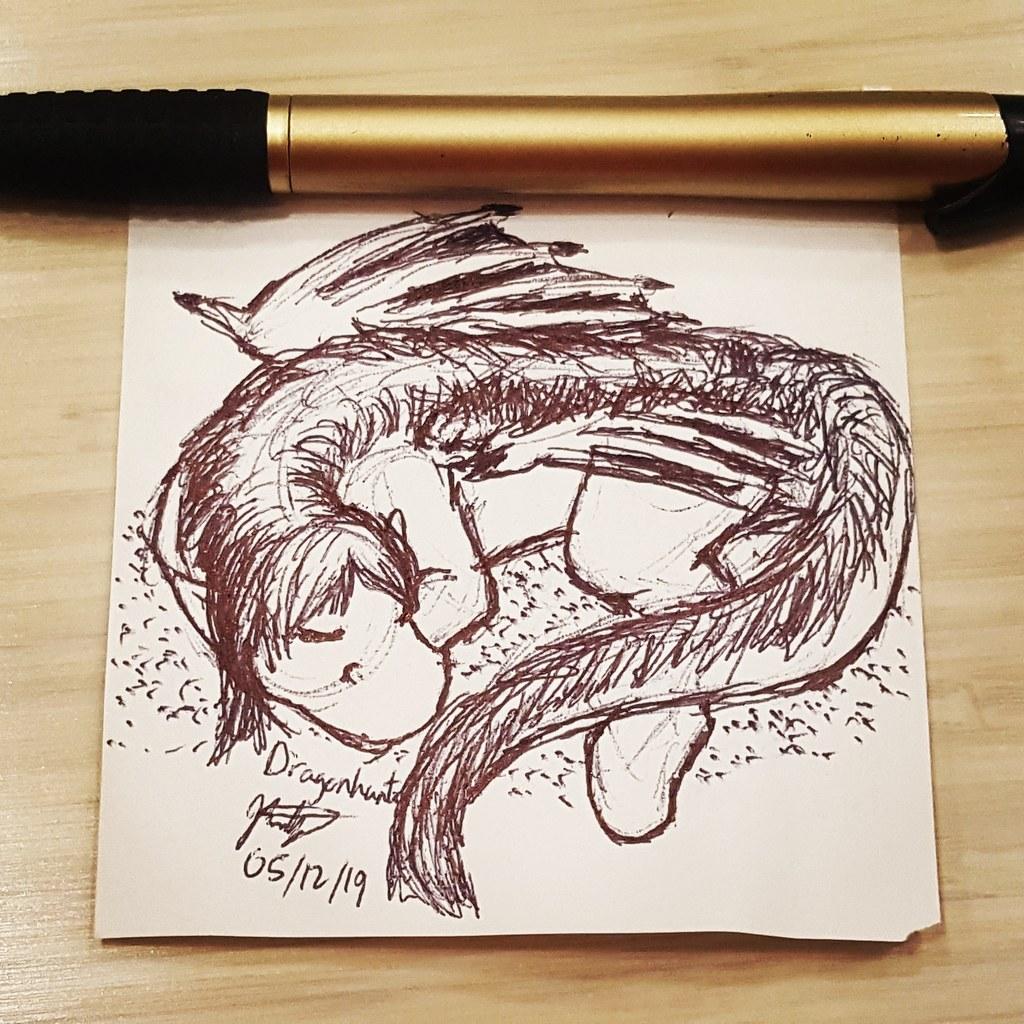 Work Doodles - Sleepy Chibi Draness