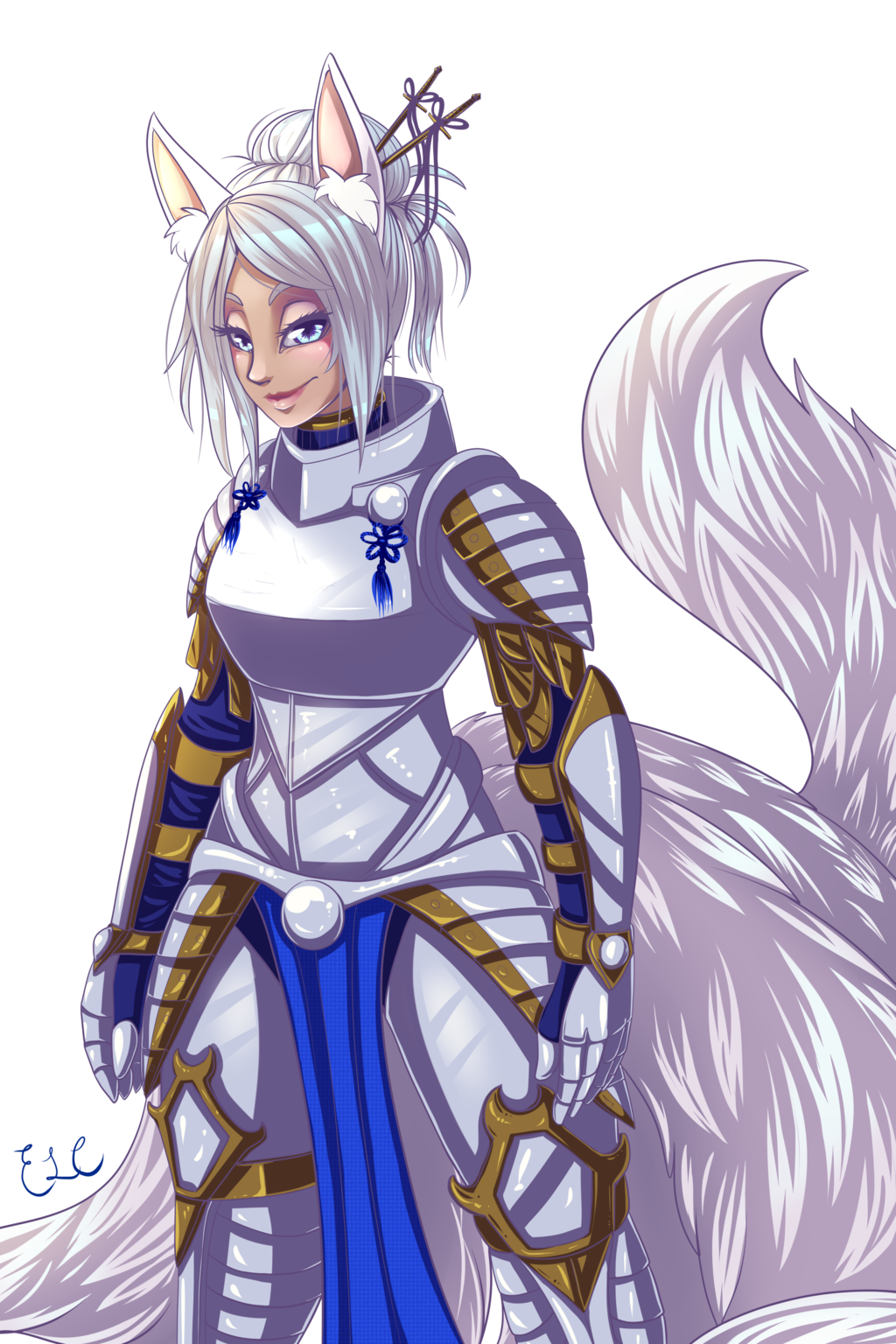 Commission: Kitsune paladin