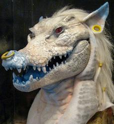 Tankard albino crocodile mask