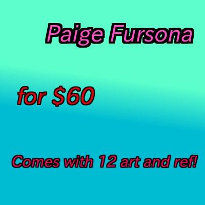 Most recent image: Paige Fursona for sale!