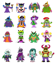 DQxFNAF - Villains as FNAF Animatronics