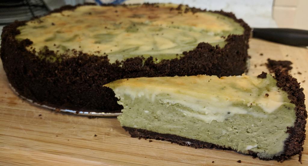 Matcha White Chocolate Marble Cheesecake
