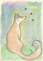 15 minute doodle of a Fox or Dog