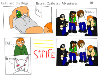 Hypest Zaibatsu Adventures Page 1: Cats are Dirtbags