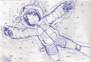 receipt sketch: bearsy girl