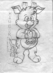 Hamburdeer Care Bear Cousin Sketch