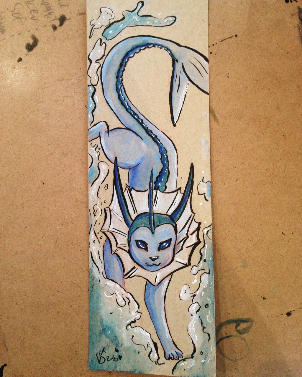 Most recent image: Vaporeon custom bookmark