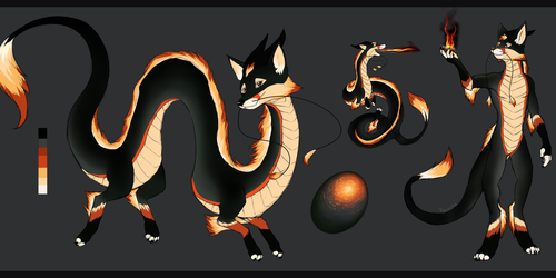 Fire Fox Dragon Design