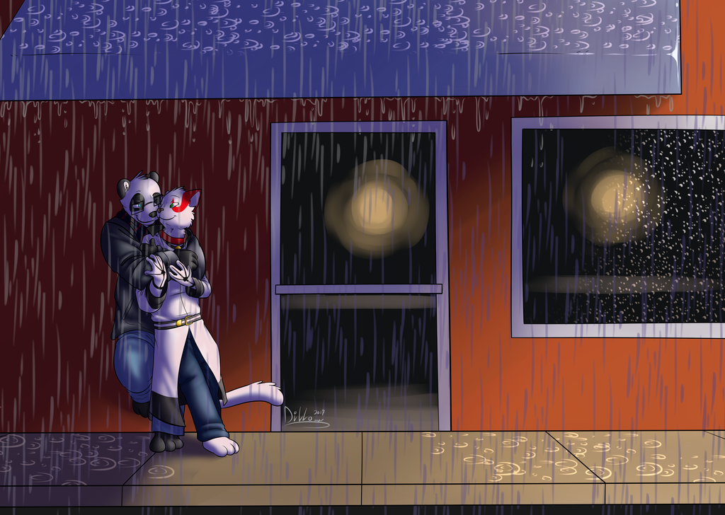 Commission: Shelter From the Rain
