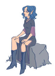 Meditating elf