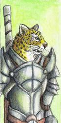 Leopard Warrior Bookmark - 2011