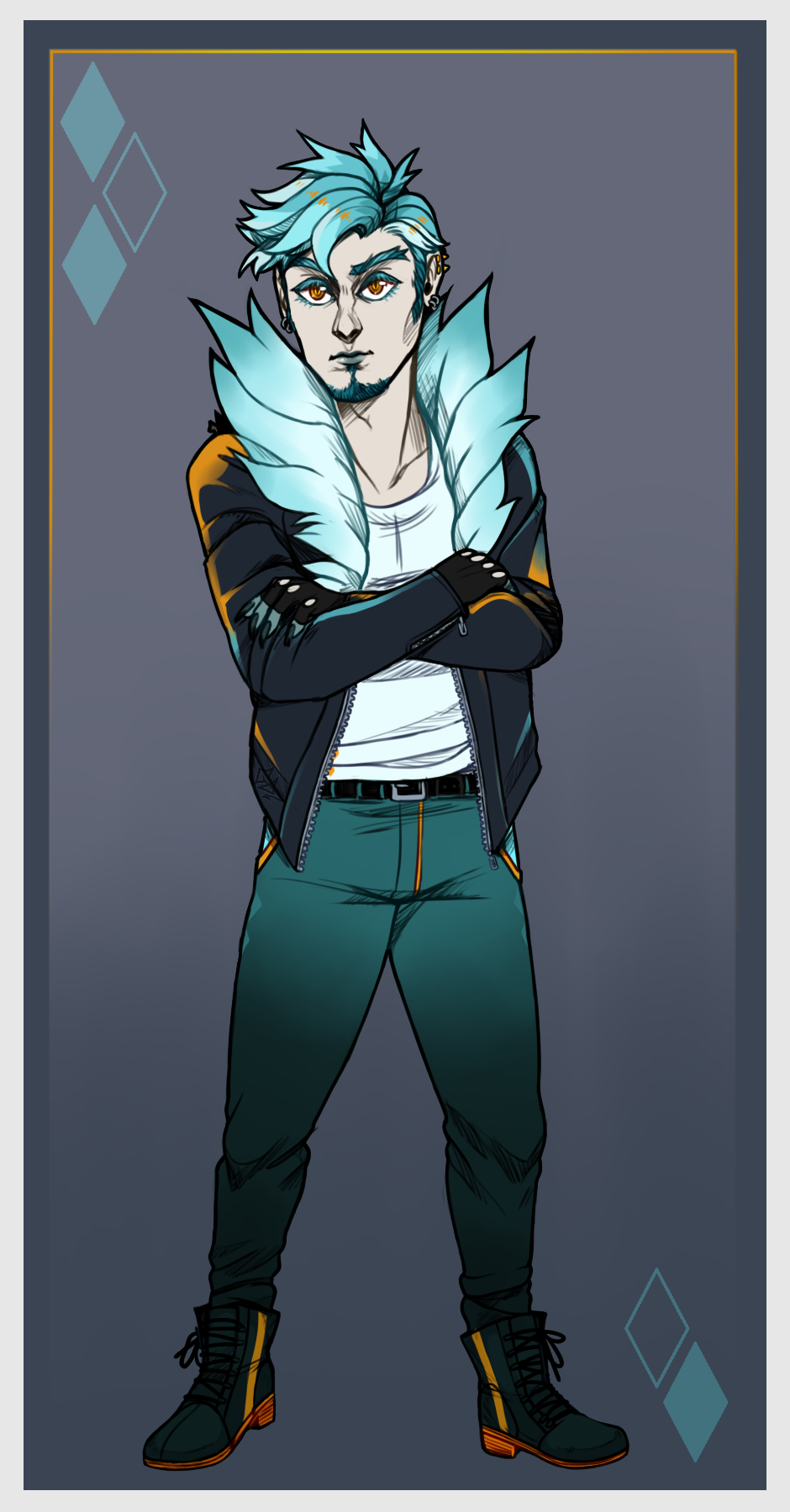 Icy Boi - Humanized Cinnadog [COM]