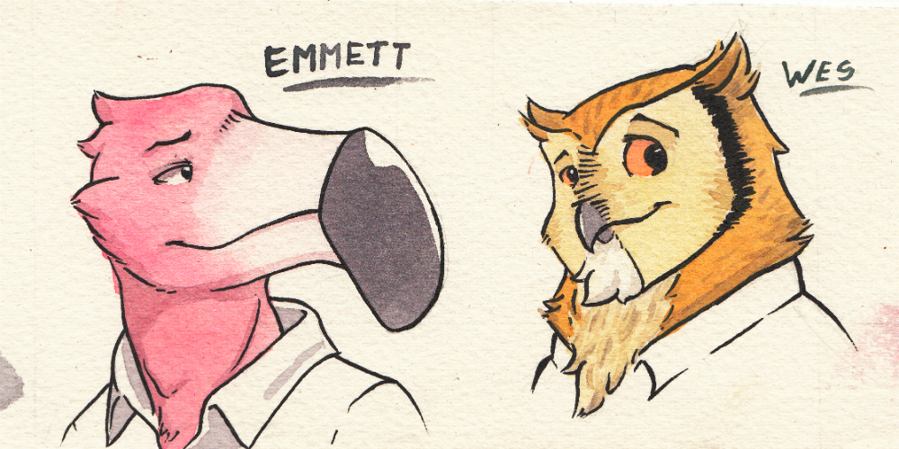[SKETCH] Emmett & Wes Bust