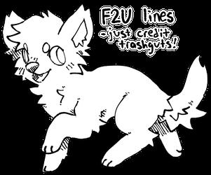 f2u canine lineart!