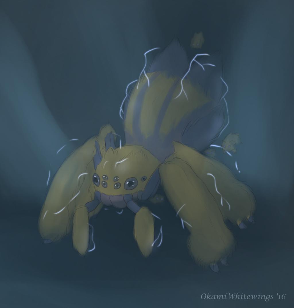 Pokemon Drawlloween - 30 Spider