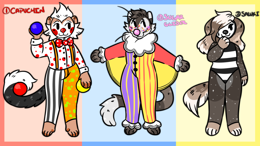 Most recent image: Clown Adoptables (3/3 OPEN)