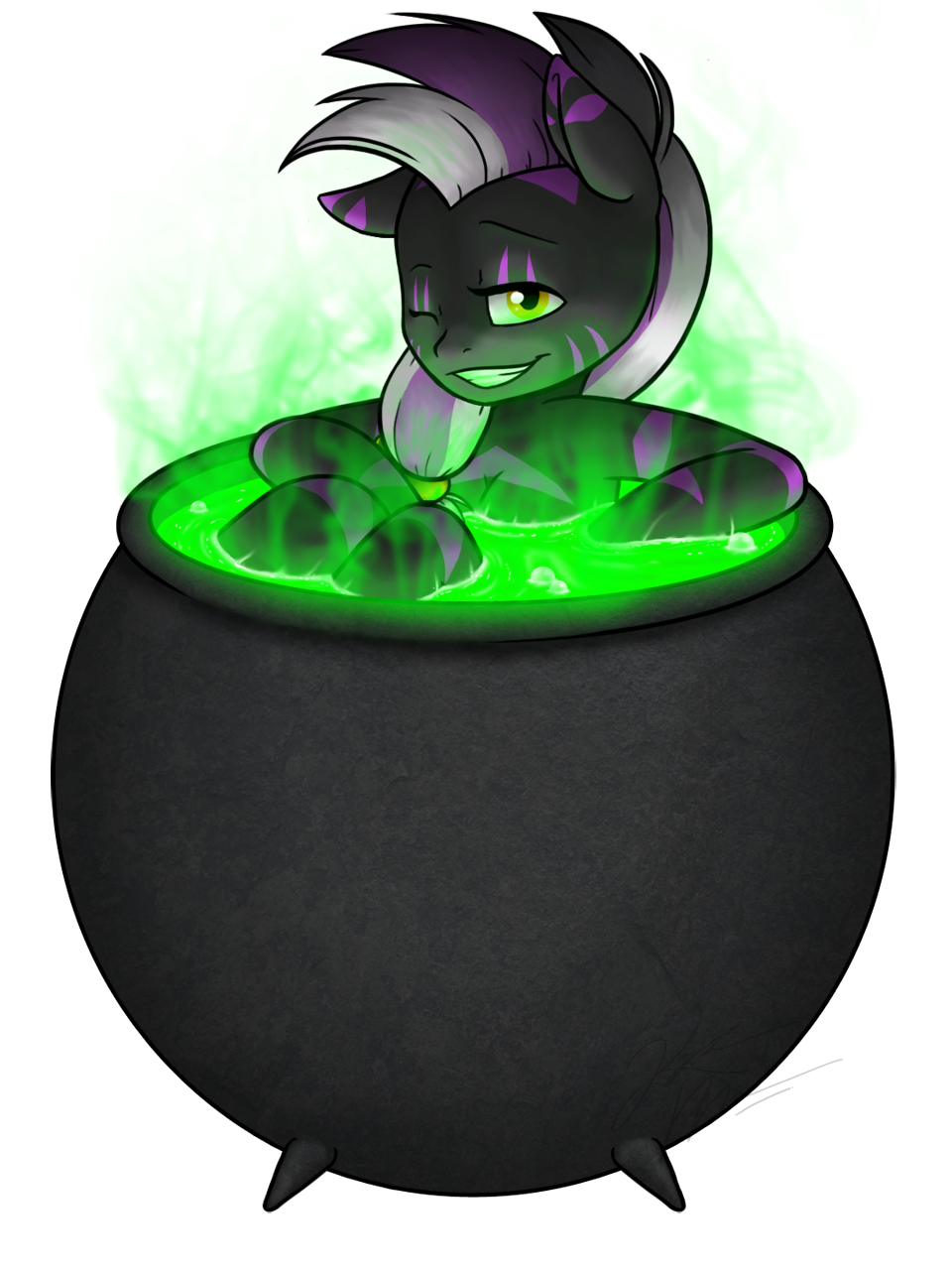 YCH: Cuppie- Vexin In A Cauldron