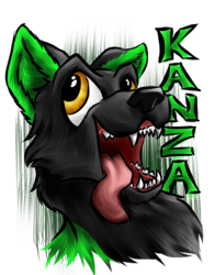 """Commission: Kanza """"Oral Fixation"""" Badge"""
