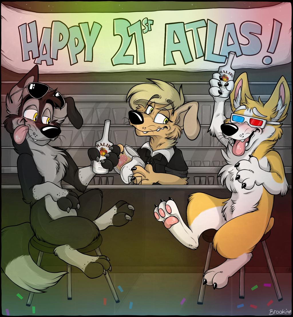 Happy Birthday Atlas Corgi!