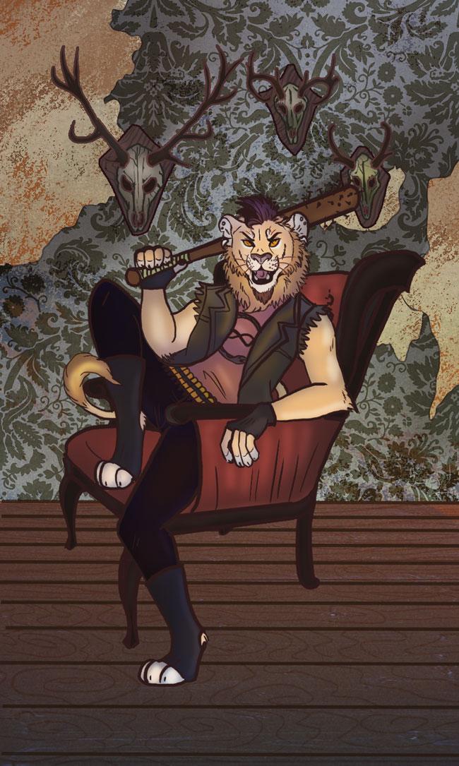 King of Bones Tarot Card