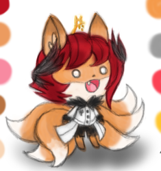 Art Challenge 4 - Cute Kitsune Aki