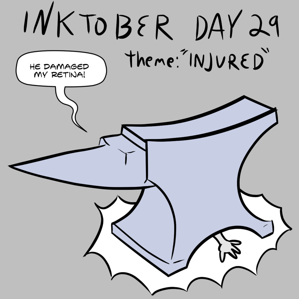 "Inktober Day 29: ""Injured"""
