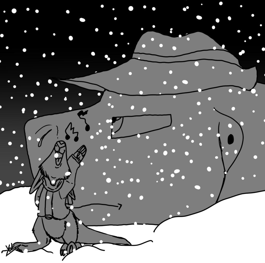 [G] Illustration - Horrid Winter singing