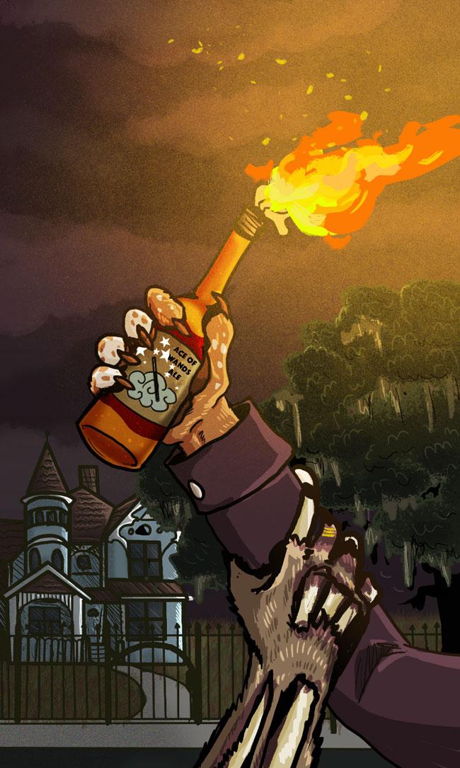 Ace of Bones Tarot Card