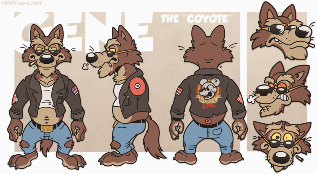 """Gene The """"Coyote"""" - Reference Sheet"""