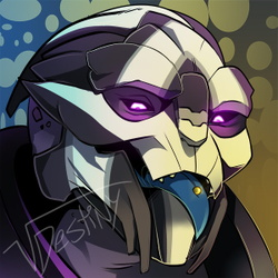 Turian Cheeky Icon (COMMISSION)