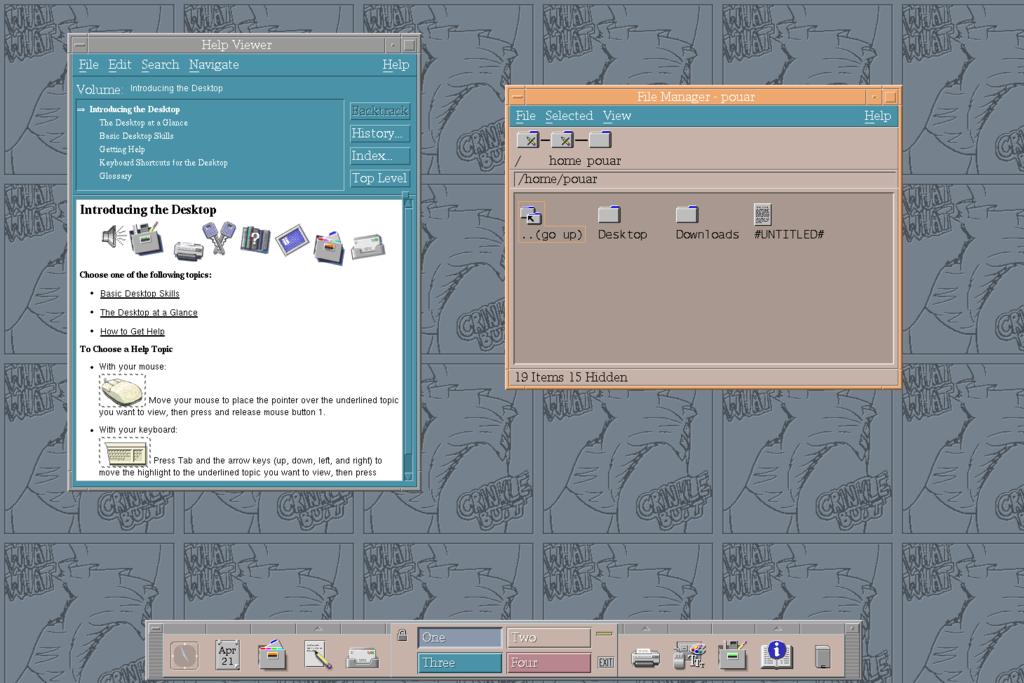 Crinklebutt CDE Backdrop for Unix users