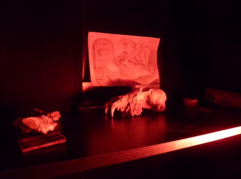 Red Lamp, Black Shelf 2