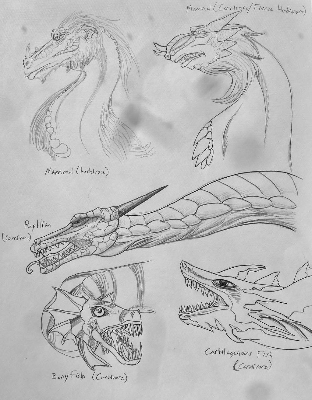 Crazy Sketchpage o' Dragons