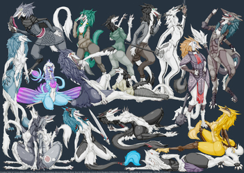 16 Sergals and 1 Nevrean boy of Team GRG!