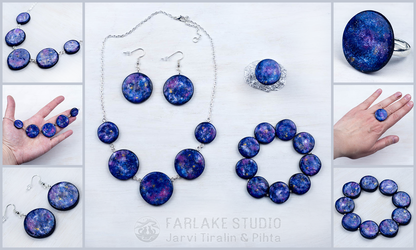 Cosmic jewelry set
