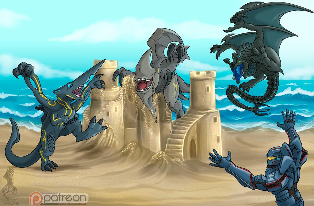 Kaiju at the Beach