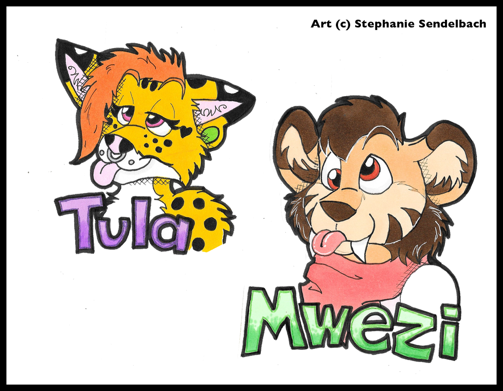 Most recent image: Tula and Mwezi Badges