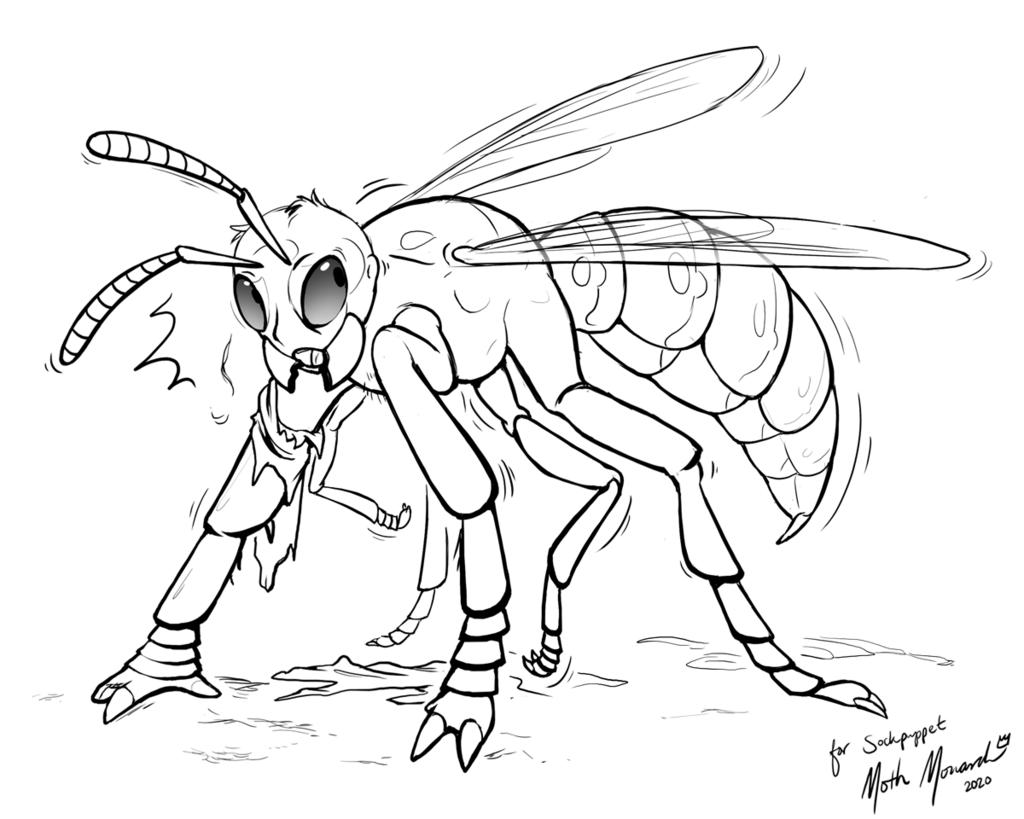 Human to Wasp TF Sketch