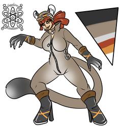 Female Puma woman +Flatcolored Commission+