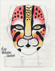 Fire Palette Ocelot makeup sketch