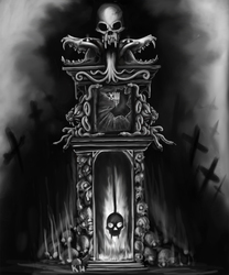 Grandfather clock tattoo design