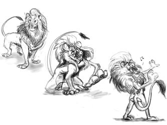Ehh123 Lion Sketch Commission