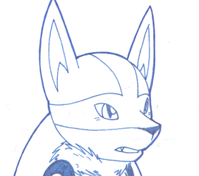 Pokemon - Random Lucario doodle (Blues)