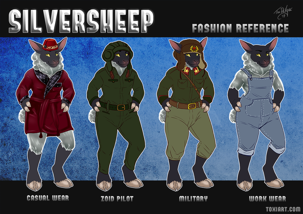 Silver Sheep Fashion Reference Sheet by Toxi De Vyne